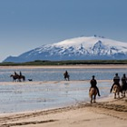 New Postcards 2017 - Horse-riding at Löngufjörur, Snæfellsnes Peninsula