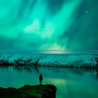 New Postcards 2017 - Aurora Borealis at Lake Kleifarvatn, Reykjanes Peninsula