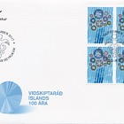 Iceland Chamber of Commerce 100th Anniversary- (FDC Block of 4)