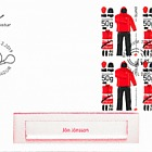 The Icelandic Postal Workers Union - 100th Anniversary - FDC Block of 4