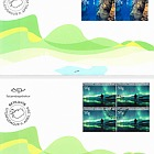 Tourist Stamps VIII - Diving Tours and Northern Lights - FDC Block of 4