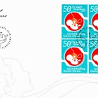 The Icelandic Midwives Association - 100th Anniversary - FDC Block of 4