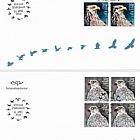 Europa 2019 - Icelandic Birds - FDC Block of 4