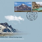 Kyrgyzstan KEP 2017 FDC - International Year of Sustainable Tourism for Development -  Pearls of Kyrgyz Nature