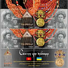 Joint stamp Issue Between Kyrgyzstan and Ukraine - Traditional Jewelry - Se-tenant