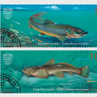 Kyrgyz Republic Red Data Book (III) - Fishes - Set CTO