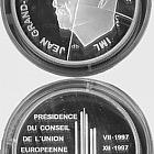 Luxembourg - 500 LUF Gedenkmunze President (1997)