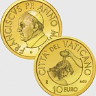 Vatican - 10 Euro Gold Commemorative Coin Baptism (2014)