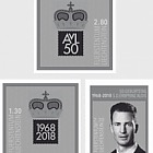 50th Birthday of H.S.H. Hereditary Prince Alois von und zu Liechtenstein - (Black Print Set)