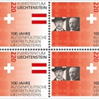 100 Years of Liechtenstein's Foreign Representation - Block of 4 Mint