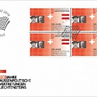 100 Years of Liechtenstein's Foreign Representation - FDC Block of 4