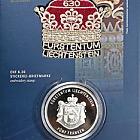 300 ans du Liechtenstein 2019 - CHF5 Pièce d'argent avec timbre CHF6.30
