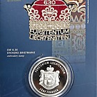 300 años de Liechtenstein 2019 - CHF5 Moneda de plata con sello CHF6.30