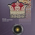 300 ans du Liechtenstein 2019 - CHF10 Pièce d'or avec timbre CHF6.30