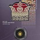 300 años de Liechtenstein 2019 - CHF10 moneda de oro con sello CHF6.30
