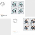 50 Years of First Moon Landing - FDC Block of 4