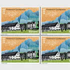 Village Views - Balzers - Block of 4 Mint