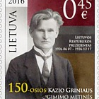 The 150th Birth Anniversary of Kazys Grinius