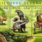 Lithuanian Animals - Royal Stag, Gray Hare & Badger