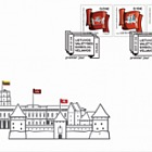 Symbole des Staates Litauen - Flaggen