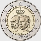 2€ coin 2014 - 50th anniversary of accession to the throne GD Jean