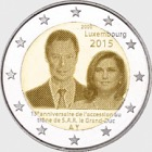 2 euro 2015 15 years throne G.D. Henri