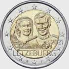 2 euros - 40 ans de mariage du Grand-Duc Henri (Relief)