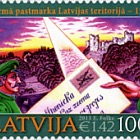 150th Ann. of first Latvian stamp -2013