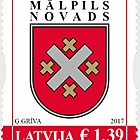 Latvian county and city coats of arms - Malpils county, 2017