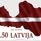 Flag / Map of Latvia