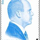 Nachdruck der Blauen Bildnis von H.S.H Prince Albert II