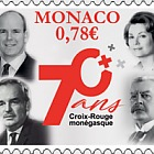 70th Anniversary of the Monegasque Red Cross - (Stamp CTO)