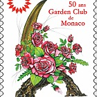 50th Anniversary of the Garden Club of Monaco - (Stamp CTO)