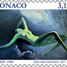 The Nude in Art - La Nuit 1922 - (Stamp Mint)
