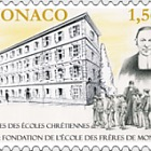 150th Ann of Monaco's Ecole Des Freres School - (Stamp CTO)