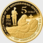 €5 First World War Centenary - Brass Coin