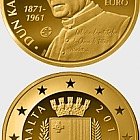 European Writers - Dun Karm Psaila - Gold Coin