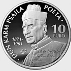 European Writers - Dun Karm Psaila - Silver Coin