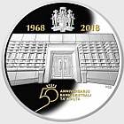 50th Anniversary of the Central Bank of Malta - Silver Coin