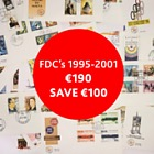 Christmas Offer - FDC's 1995-2001 for €190 (save €100)