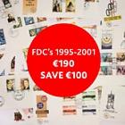 特价 - 1995至2001年的FDC,价格为190欧元(节省100欧元)