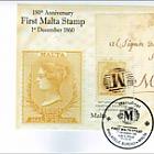 150 ° Anniversario del primo francobollo Malta