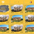 Joint Stamp Issue Malta-Romania - Architecture, Palaces