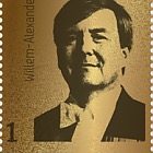 Golden Stamp King Willem-Alexander