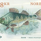 European Perch - Norden Stamp