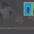 Gustav Vigeland 150th Anniversary - Golden FDC