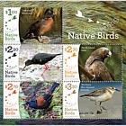 2017 Recovering Native Birds Mint Miniature Sheet