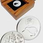 Kiwi Silhouette Silver Proof Coin