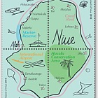 2018 The Island of Niue Se-tenant Set of Mint Stamps