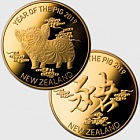 2019 Year of the Pig Gold Plated Medallion